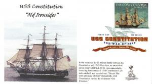 USS Constitution/War of  1812 FDC, w/ DCP cancel,  #2 of 4