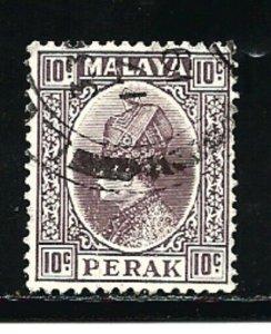 Malaya Perak Stamps-Scott # 75/A14-10c-Canc/LH-1936-OG