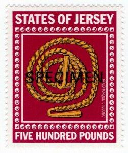 (I.B) Jersey Revenue : Duty Stamp £500 (specimen)