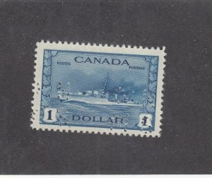 CANADA # O262  VF-MNH  $1 1942-43 TRIBAL CLASS DESTROYER OHMS/BLUE  CAT $300