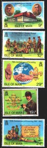 Isle Of Man. 1982. 203-7. Scouts. MNH.