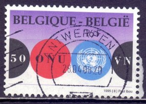 Belgium. 1995. 2653. 50 years of the UN. USED.
