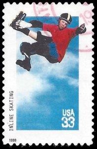 #3324 33c Extreme Sports Inline Skating 1999 Used