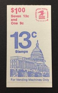 U.S. 1978 #1623a/BK131, U.S. Capitol, MNH