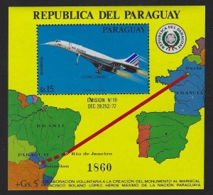 Paraguay 1975 15G Concord S/S Sc# C428 NH