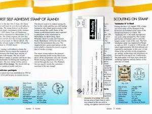 Aland 1998 Sc 148 Commemorative Announcement booklet