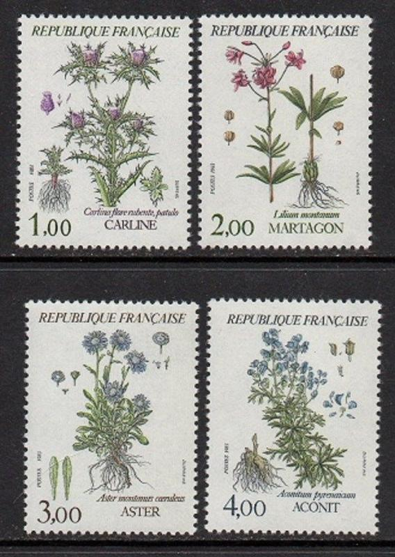 France 1983 Wild Flowers VF MNH (1870-3)