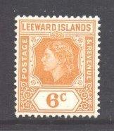 Leeward Is Scott 139 - SG132, 1954 Elizabeth II 6c MH*