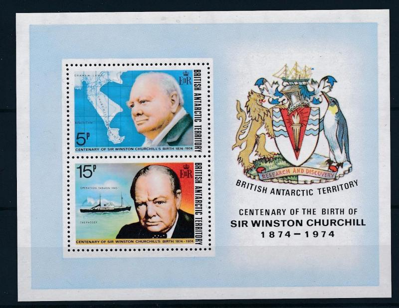 [36507] British Antarctic Territory 1974 Winston Churchill Souvenir Sheet MNH