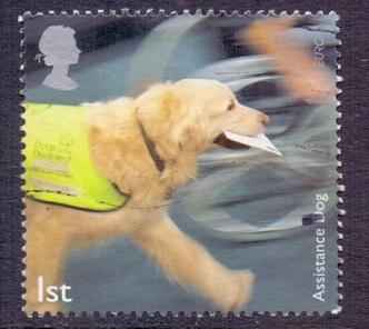 Great Britain 2008 used working dogs 1st assistance dog with letter    #