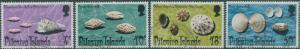Pitcairn Islands 1974 SG147-150 Shells set FU