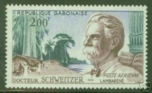 GABON Scott C1 MNH** Dr. Albert Schweitzer stamp CV $6