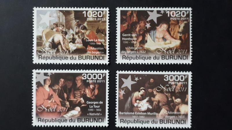 Burundi 2011. -  Christmas / paintings ** MNH complete set (perforated)