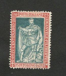 ITALY- MH STAMP -EMANUELE FILBERTO ,  25 c -1928.