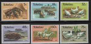 Tokelau  132-137 (6) SET, HINGED, 1986 Fauna