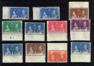 UK STAMP 1937 Coronation ISSUE COLLECTION LOT MNH/OG STAMP COLLECTION LOT #S4