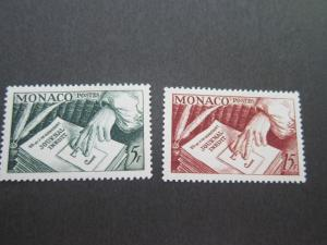Monaco 1953 Sc 301-2 set MH