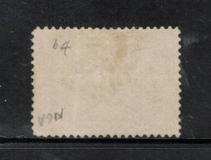 Canada #64 Extra Fine Used With Toronto CDS Cancel In Black - Light Creases