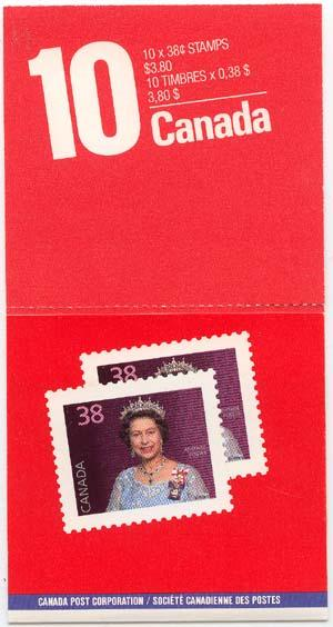 Canada - 1988 38c QE Stamps By Mail Booklet #BK102a