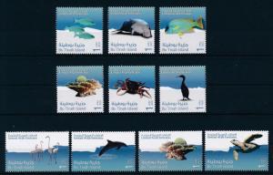 UAE United Arab Emirates 1024-1033 MNH Fish Birds Marine Life. x29302
