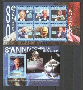 BC411 2010 GUINEA SPACE BUZZ ALDRIN 80TH ANNIVERSARY APOLLO 11 1KB+1BL MNH