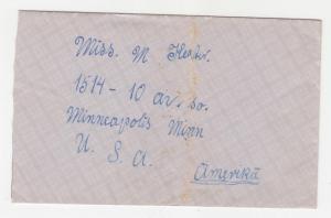 LATVIA, 1930 cover, 15s.(2), Daugawpils to USA.