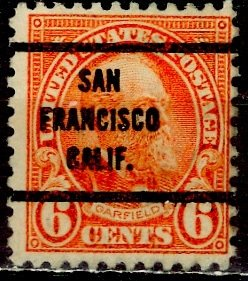 U.S.A.; 1927; Sc. # 638;  O/Used Pre-Canc. Perf. 11x10 1/2 Single Stamp