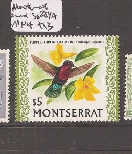 Montserrat Bird SG 254a MNH (5ccr)