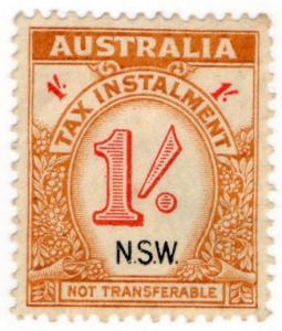 (I.B) Australia - NSW Revenue : Tax Instalment 1/-
