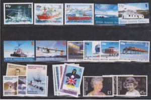 British Antarctic Territory Scott #350-372 Mint. Six Complete Sets
