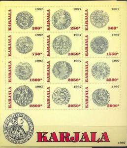 KARJALA RUSSIA LOCAL SHEET COINS