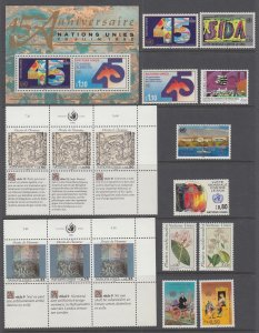 UN Geneva 182-194 Year Set for 1990 MNH VF