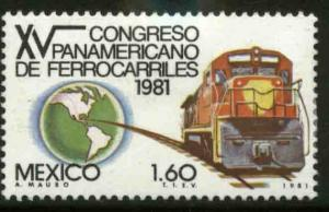 MEXICO 1257, Pan-American Railroad Congress. MINT, NH. VF.