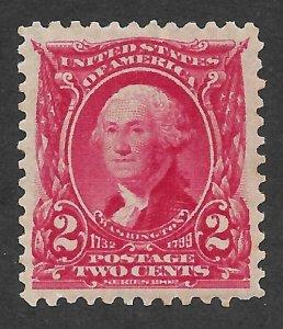 Doyle's_Stamps: PO Fresh 1903 MH Well Centered 2c Washington Issue, Scott  #301*
