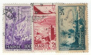 French Morocco Scott 352-355 Used!