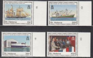 St. Helena, Sc 535-538, MNH, 1990, Ships