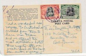 D181202 Panama Postal Card El Panama Hotel Beverly Hills California USA 1951