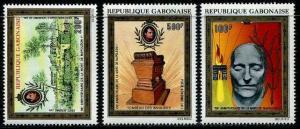 HERRICKSTAMP GABON Sc.# C112-14 Napoleon Boneparte Airmail Stamps