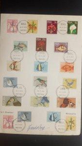 O) 1974 PETRORIA - RSA, FLOWERS. FLOWERS, BIRDS, FISHES, FDC XF