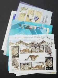 EDW1949SELL : BHUTAN Collection of 12 Different Birds or Animals S/S. All VF MNH