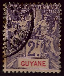 French Guiana Sc#50 F-VF Used...French Colonies are Hot!