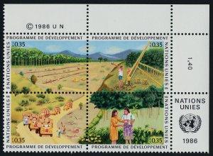 United Nations - Geneva 144a TR Block MNH UN Development Program trees, Trucks