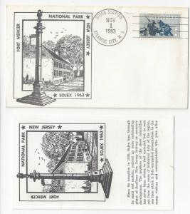 SOJEX Fort Mercer New Jersey 1963 Cover w Insert Atlantic City Station Cancel