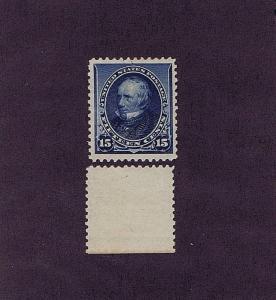 SC# 227 UNUSED ORIGINAL GUM MNH 15 CENT CLAY, 1890, VF 2017 PSAG CERT GOOD CV