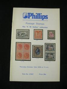 PHILLIPS AUCTION CATALOGUE 1978 POSTAGE STAMPS 'GALLON' COLLECTION