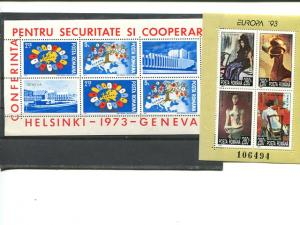 Romania 1973 and 1993  sheets VF NH . - Lakeshore Philatelics