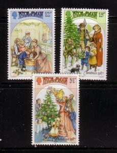 Isle of Man Sc 344-6 1987 Christmas stamps mint NH