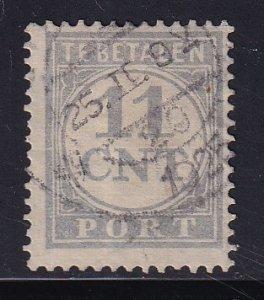 Netherlands  #J67  used   1921  postage due  11c