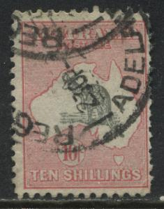 Australia 1932 Roo 10/ pink and grey CDS used