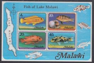 Malawi 310a Fish Souvenir Sheet MNH VF